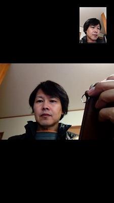 FaceTimeで通話中のiPhone5