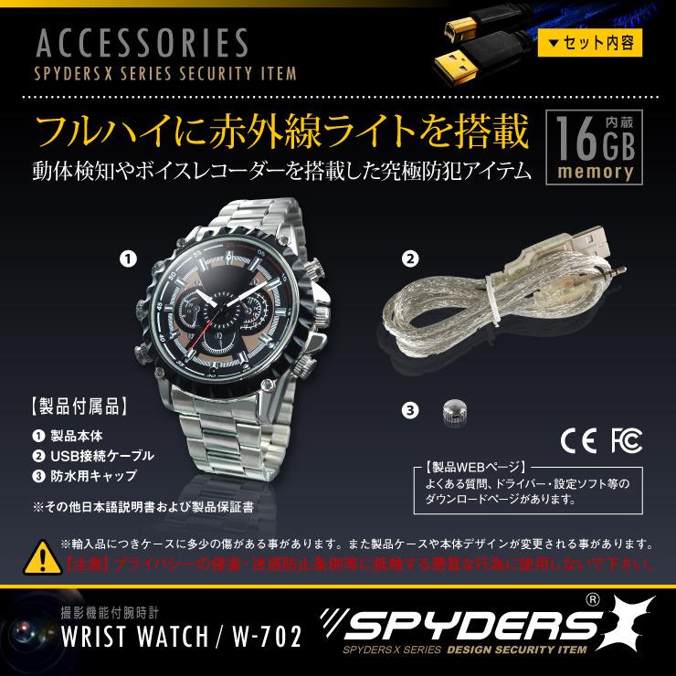 時計本体と付属品一覧の説明です。